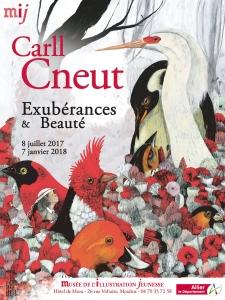 affiche de l'expo Carll Cneut au Musée de l'Illustration Jeunesse de Moulins